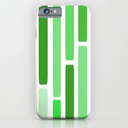 Mid Century Modern Stripes Green iPhone Case