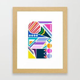 Geo Splash Framed Art Print