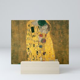 The Kiss by Gustav Klimt Mini Art Print
