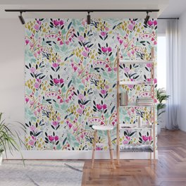 Two Hearts Beat as One Floral Wall Mural