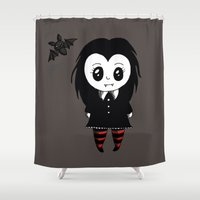 vampire Shower Curtains featuring Vampire by Chrystal Elizabeth