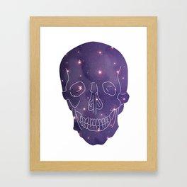Universe Skull Framed Art Print