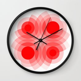 Red Interference Wall Clock