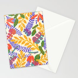 Autumn Plants on white  Stationery Cards