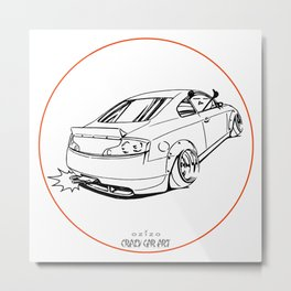 Crazy Car Art 0221 Metal Print