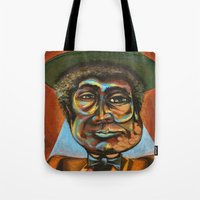 "louis armstrong Tote Bags featuring Louis ""Pops"" Armstrong 