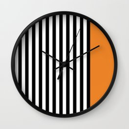 Liquorice allsorts, orange Wall Clock