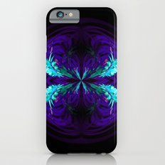 Blue flowered globe abstract iPhone 6s Slim Case