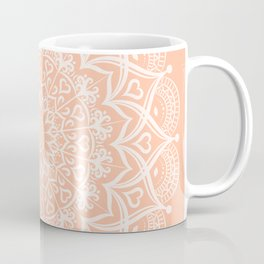 Elegant Peach Mandala Coffee Mug