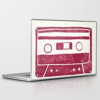cassette Laptop & iPad Skins featuring Cassette by Brita A