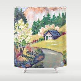 Spring Alpine Shower Curtain