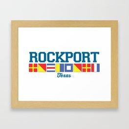 Rockport Texas. Framed Art Print