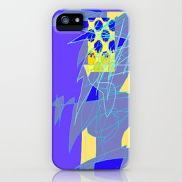 Yellow Square Hatchling  Blue-purple  Abstract iPhone Case