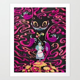A Mad Grin Art Print