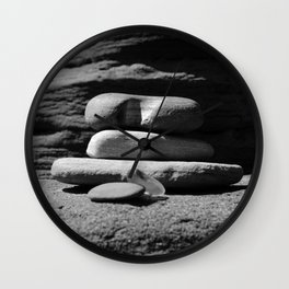 Rock Stack Wall Clock