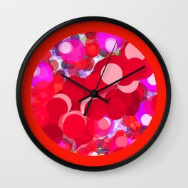 SEXY PLEXI DOTS FULL OF RED LOVE  Wall Clock