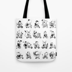 Animals Bicylcle Club Tote Bag