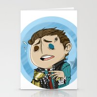 borderlands Stationery Cards featuring Borderlands - Rhys by Tarn