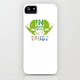 In God We Trust; Dragon Ball - Dendé iPhone Case