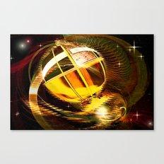 Golden celestial globe. Canvas Print
