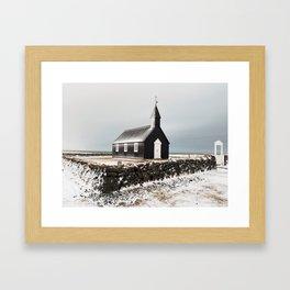 A Church on the Lava Rocks Framed Art Print