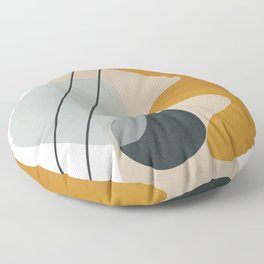 Abstract Shapes No.27 Floor Pillow