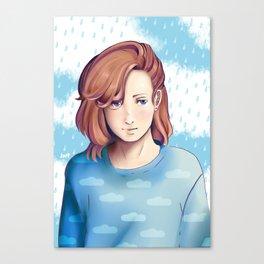 CINTIQ Original Character cute uke boy SPEEDPAINT tool sai  Canvas Print