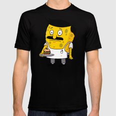 SpongeBob's Burgers X-LARGE Mens Fitted Tee Black