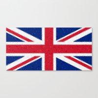 british flag Canvas Prints featuring British flag mosaic by Zora Zora