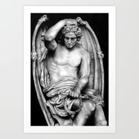demon Art Prints featuring Demon by leonmorley