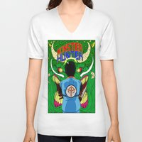 monster hunter V-neck T-shirts featuring Monster Hunter by Rasheed Daoud Hines