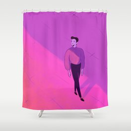 walking man Shower Curtain