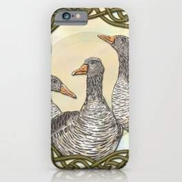 Celtic Geese iPhone Case