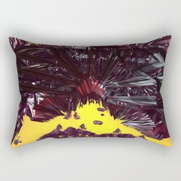 Black Licorice (3D Digital Fractal Art) Rectangular Pillow