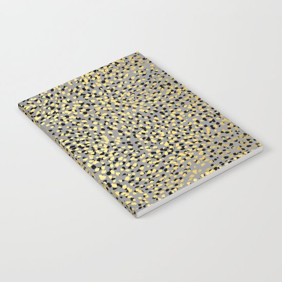 Colvi - leopard animal print gold black and white gender neutral modern trendy non binary art decor Notebook
