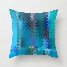 Re-Created Flying Carpet X Throw Pillow