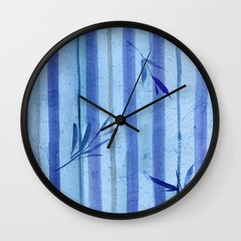 stripes blue rondo Wall Clock