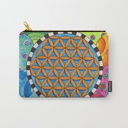 Flower of Life - Spring Days Carry-All Pouch