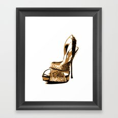 Sparkle Shoe Framed Art Print