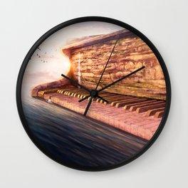 Piano Accord in Sea minor Wall Clock