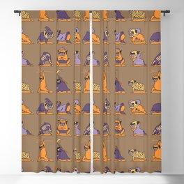 Pug Yoga Halloween Monsters Blackout Curtain