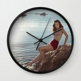Morning Swim Wall Clock