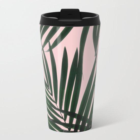 Delicate Jungle Theme Metal Travel Mug