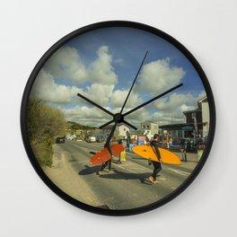 Surf crossing Wall Clock