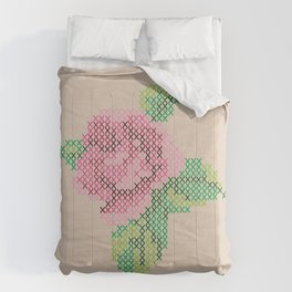 Rose cross stitch Comforters