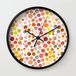 Different Polka Dots Wall Clock