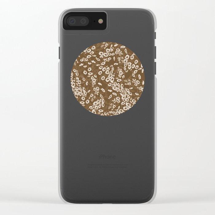 Daisy Dream Sepia Clear iPhone Case