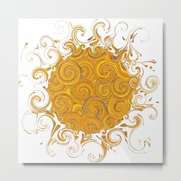 Abstract Sun-Barbara Chichester Metal Print