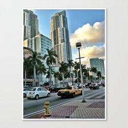 taxi cab miami Canvas Print