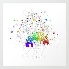 Rainbow Spring - Colors Decompressed Art Print